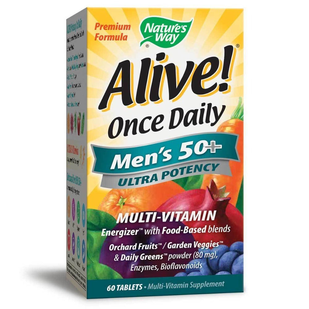 Nature's Way Alive! Once Daily Men's 50+ 60 Tabs Vitamins Nature's Way  (1058642591787)