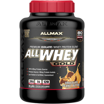 Allmax Nutrition AllWhey Gold 5 Lbs Protein Allmax Nutrition Chocolate Peanut Butter  (1058609791019)