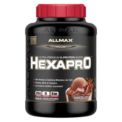 Allmax Nutrition HexaPro 5.5Lbs Protein Allmax Nutrition Chocolate  (1058778578987)