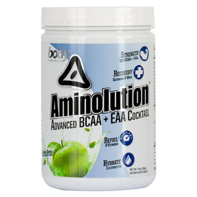 Body Nutrition Aminolution 30 Servings Amino Acids Body Nutrition Green Apple  (1059142926379)