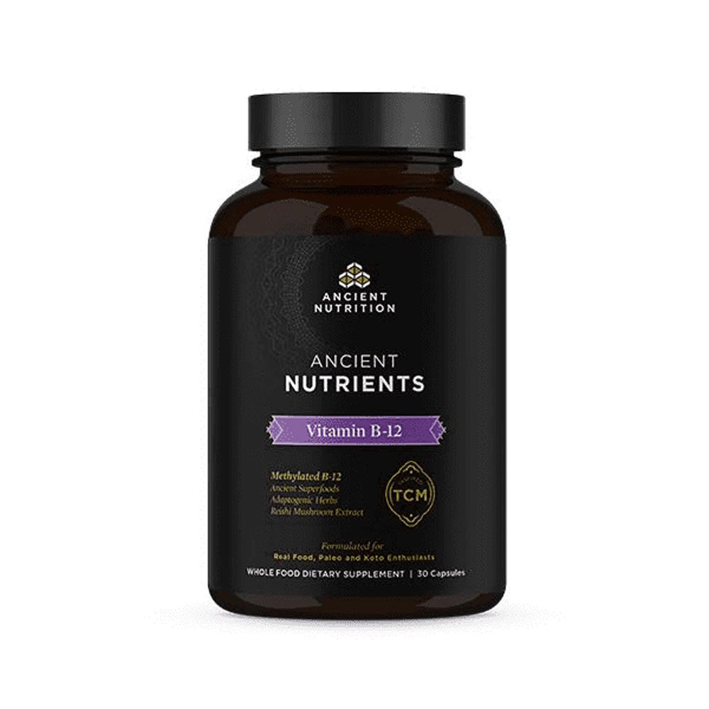 Ancient Nutrition Vitamin B-12 30 Capsules Vitamins & Minerals Ancient Nutrition  (4336684531777)