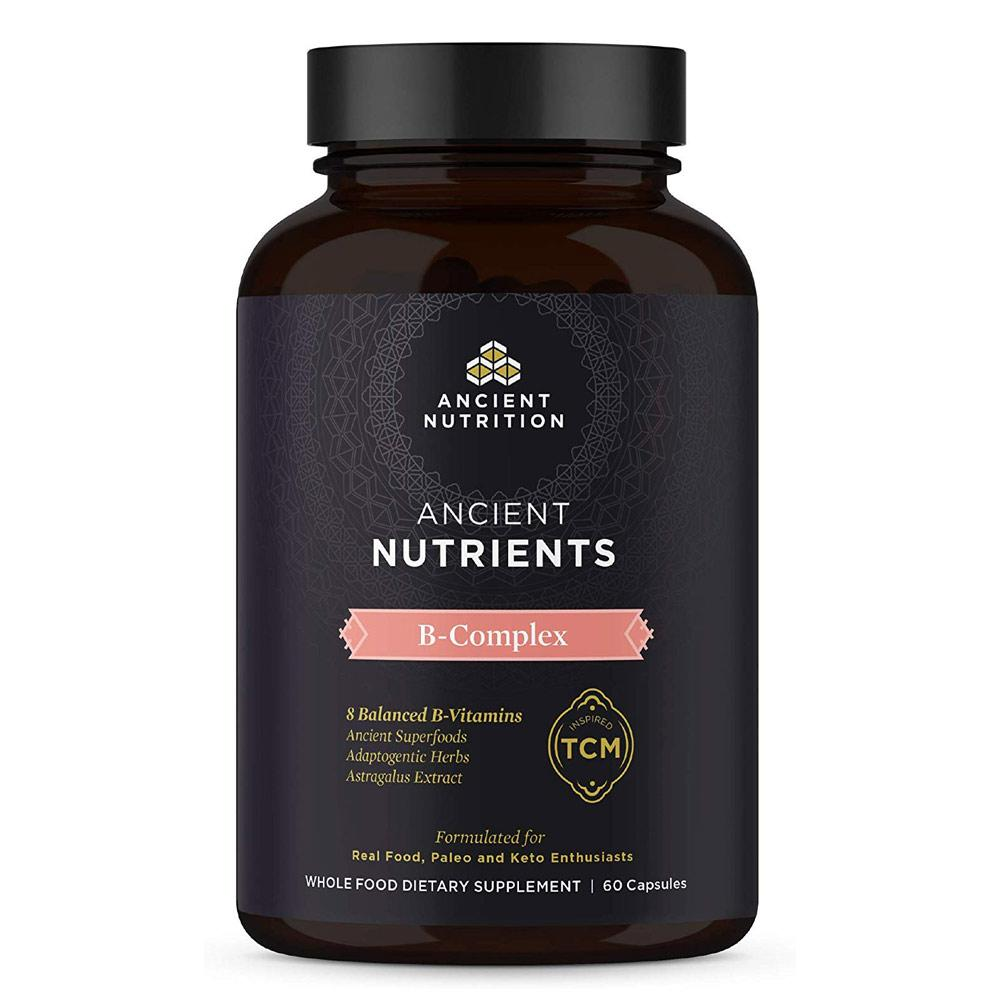 Ancient Nutrition Ancient Nutrients B-Complex 60 Capsules Vitamins & Minerals Ancient Nutrition  (4336687677505)