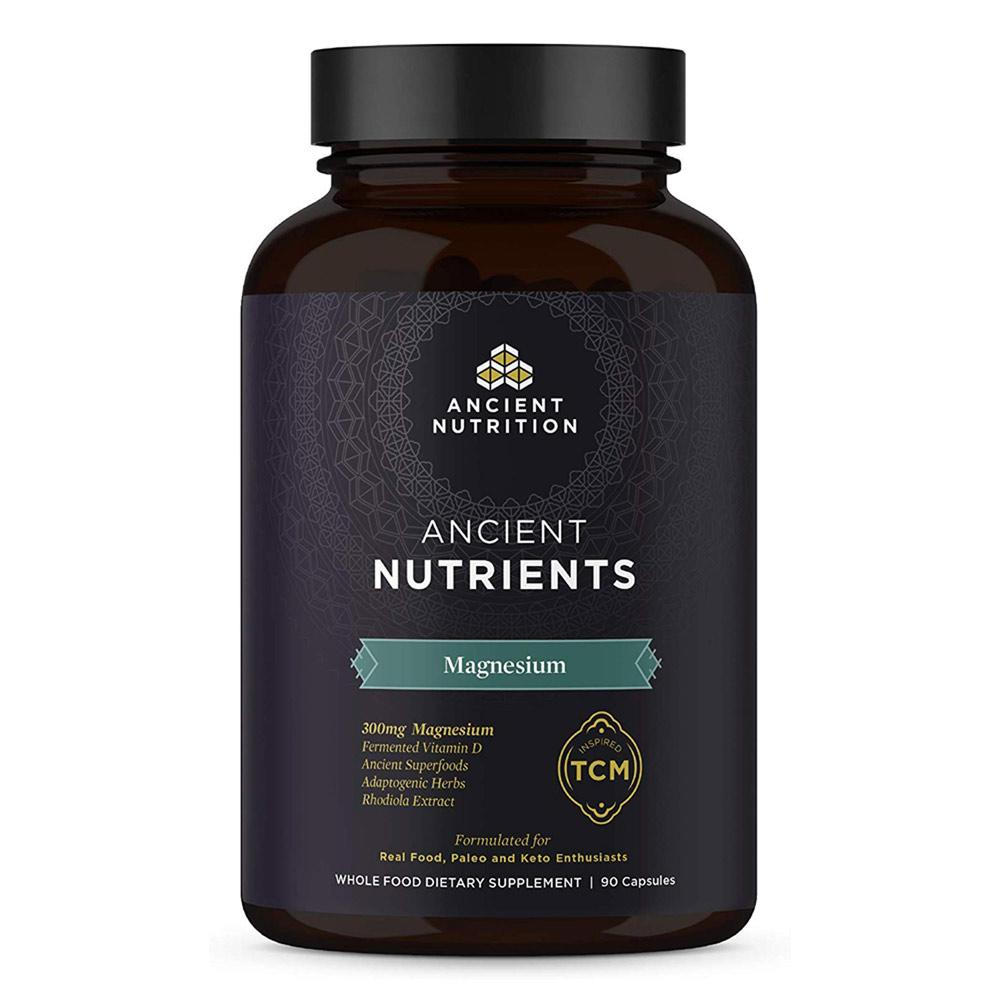 Ancient Nutrition Magnesium 90 Capsules Vitamins & Minerals Ancient Nutrition  (4336687087681)