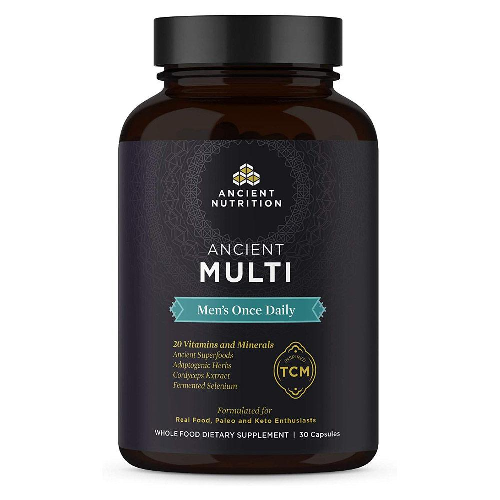 Ancient Nutrition Once Daily Multi-Vitamin for Men 30 Capsules Multi Vitamins Ancient Nutrition  (4342484435009)
