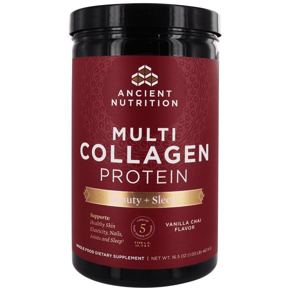 Ancient Nutrition Multi Collagen Protein Beauty + Sleep Vanilla Chai 38 Sv Protein Powders Ancient Nutrition  (4429462765633)