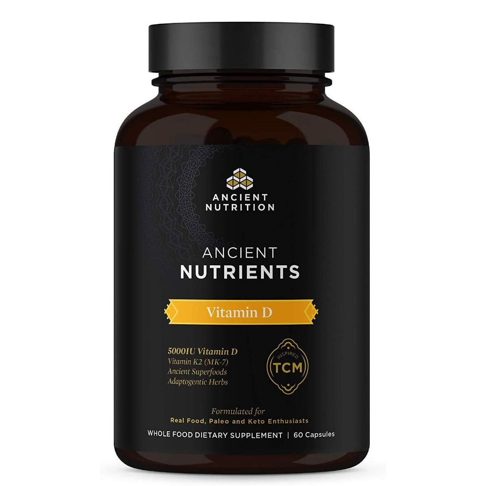 Ancient Nutrition Nutrients Vitamin D 60 Capsules Vitamins & Minerals Ancient Nutrition  (4336684564545)