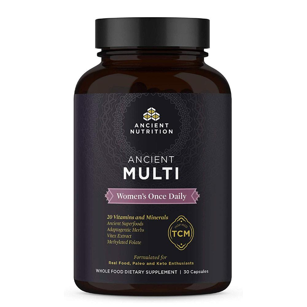 Ancient Nutrition Once Daily Multi Women's 30 Capsules Multi Vitamins Ancient Nutrition  (4342484467777)