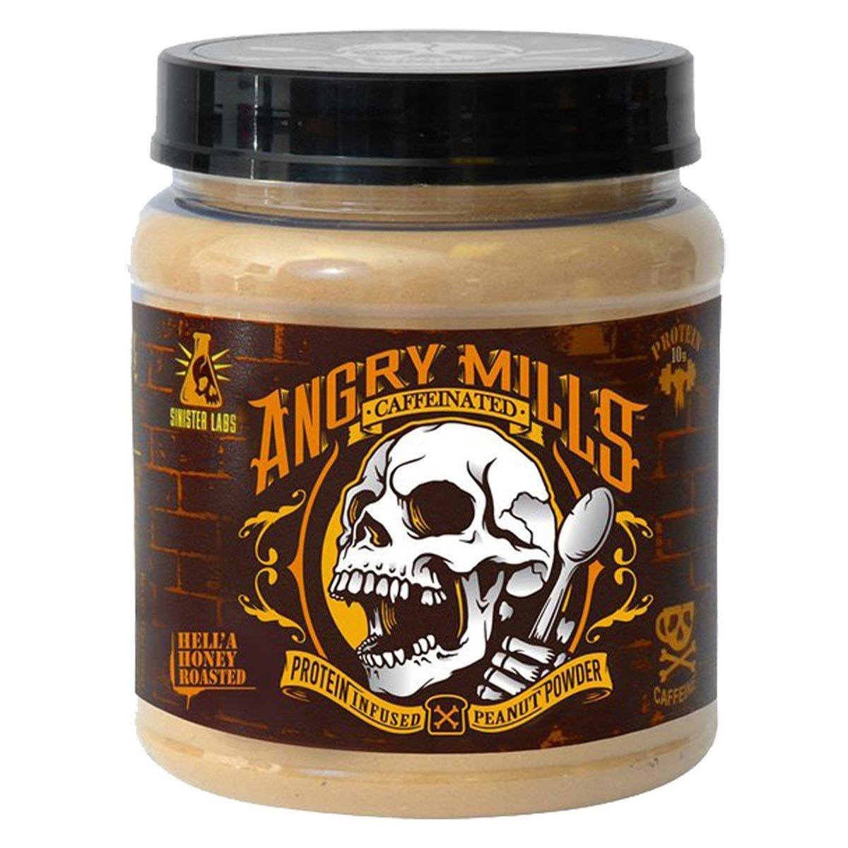 Sinister Labs Angry Mills Protein Infused Peanut Powder Caffeinated Hell'A Honey Roasted Foods & Snacks Sinister Labs  (1059325804587)