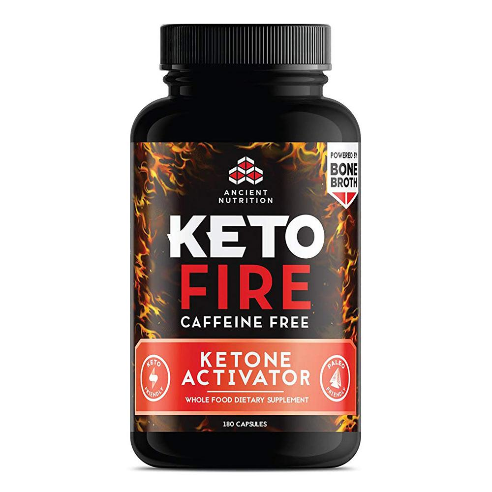 Ancient Nutrition Keto Fire Caffeine Free 180 caps Fat Burner Ancient Nutrition  (1680647389227)