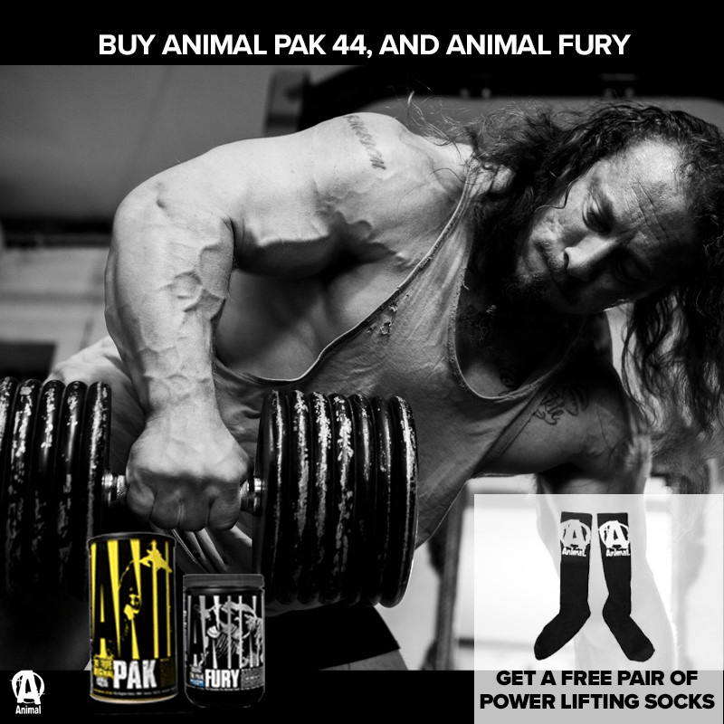 Buy Animal Pak 44 & Animal Fury - Get Free Pair of Animal Socks