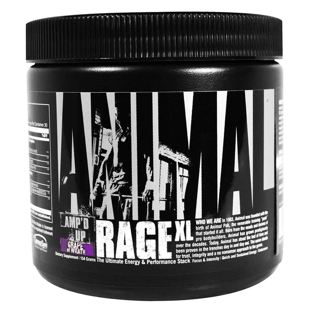 Animal Rage XL 30 Servings Sports Performance Recovery Universal Grape of Wrath  (1556179943467)