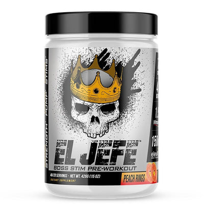 ASC Supplements El Jefe 40 Sv Pre-Workouts 1Up Nutrition Peach Rings  (4558778794049)