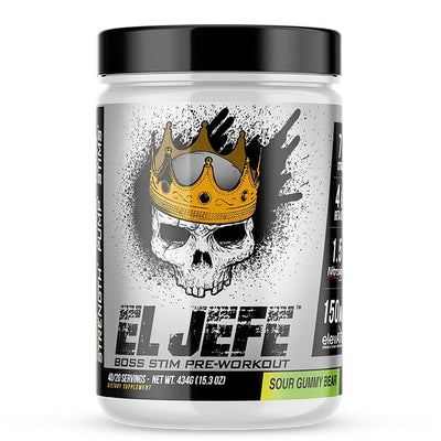 ASC Supplements El Jefe 40 Sv Pre-Workouts 1Up Nutrition Sour Gummy Bear  (4558778794049)