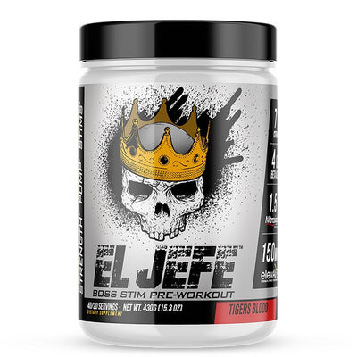 ASC Supplements El Jefe 40 Sv Pre-Workouts 1Up Nutrition Tigers Blood  (4558778794049)