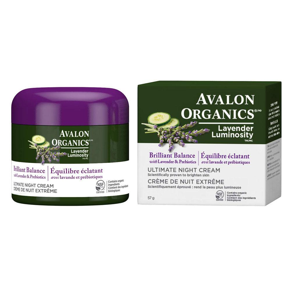Avalon Organics Brilliant Balance Lavender Night Cream 2oz Personal Care& - Hygeine Avalon Organics  (1758786682923)