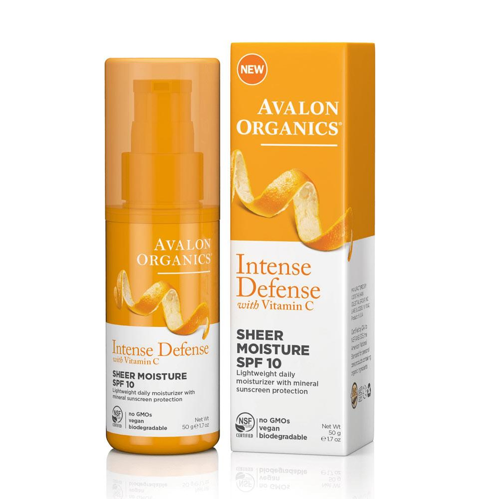 Avalon Intense Defense Sheer Moisture SPF 10 1.7oz Personal Care& - Hygeine Avalon Organics  (4358850969665)