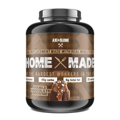 Axe & Sledge Home Made 25 Servings Protein Powders AXE & SLEDGE Double Chocolate Brownie  (4345719423041)