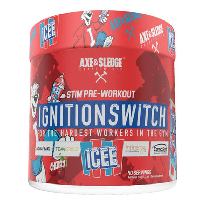 Axe & Sledge Ignition Switch 40 Servings | Stim Pre-Workout Sports Performance Recovery AXE & SLEDGE Icee Cherry