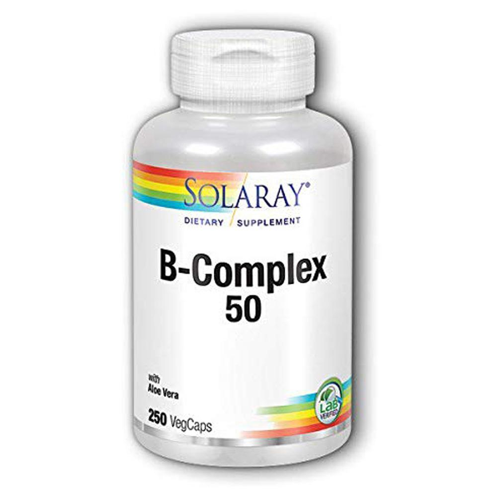 Solaray B-Complex 50 250 Caps Store Stock Only Solaray  (1815292772395)