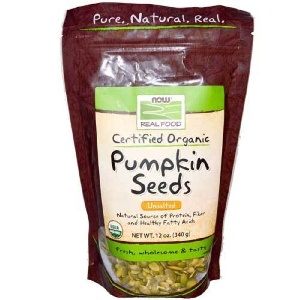 Now Foods Organic Pumpkin Seeds 12 Oz Foods & Snacks Now Foods  (1059101048875)