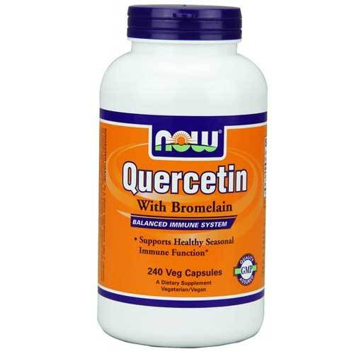 Now Foods Quercetin W/Bromelain 240 Vegetable Capsules Now Foods  (1059118121003)