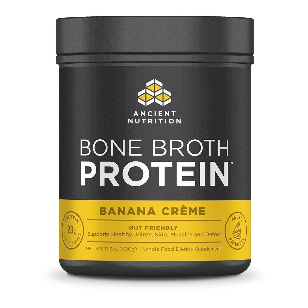 AN Bone Broth Protein 20 Servings Banana Creme Discontinued Ancient Nutrition  (4587810127937)