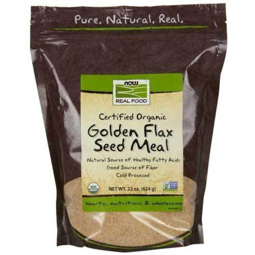 Now Foods Golden Flax Meal Organic 22 Oz Foods & Snacks Now Foods  (1059159081003)
