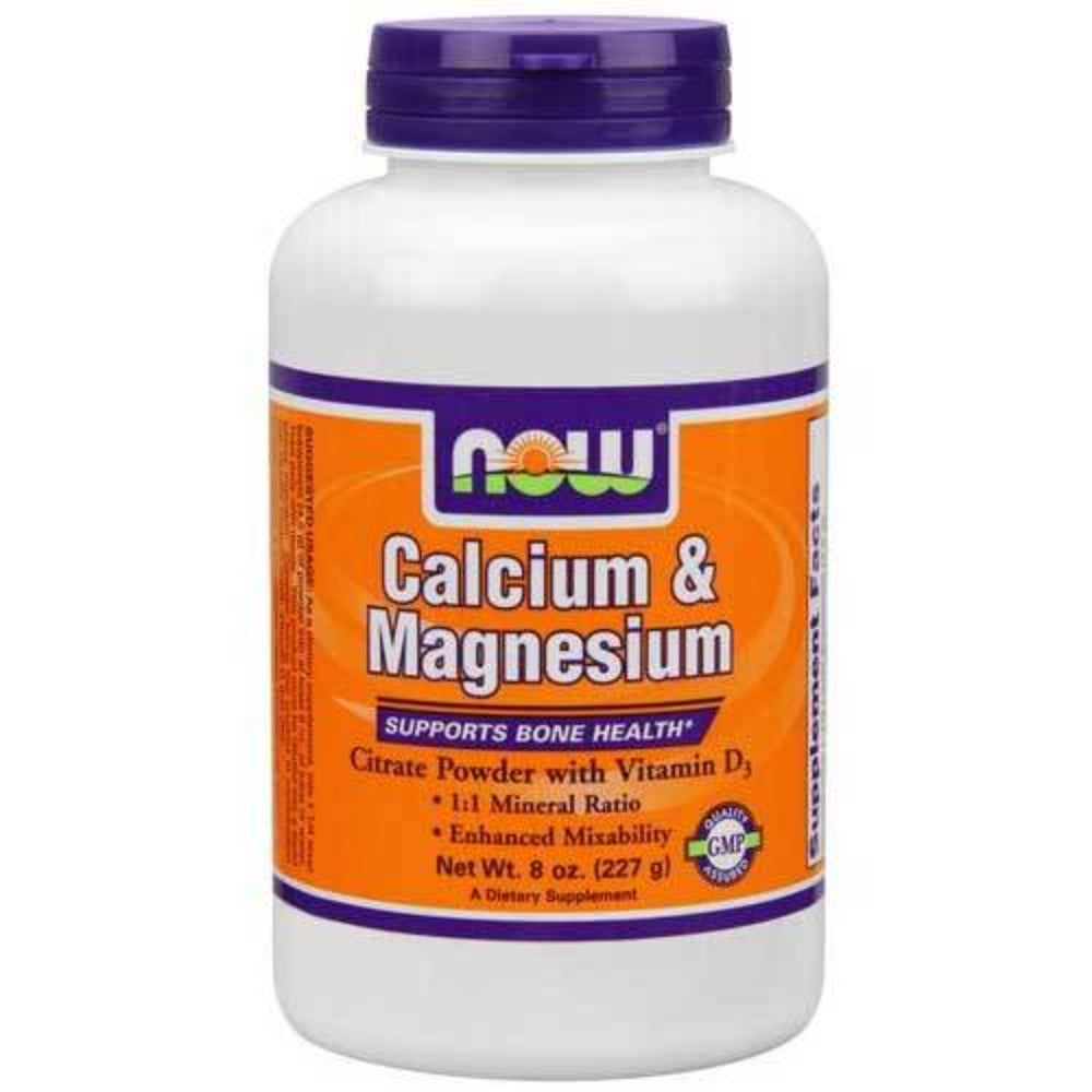 Now Foods Cal/Mag Citrate Powder 8 Oz Minerals Now Foods  (1059149152299)