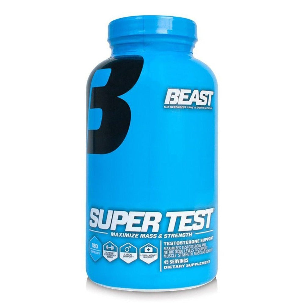 Beast Sports Nutrition Super Test 180 Capsules Testosterone Boosters Beast Sports Nutrition  (1058327003179)