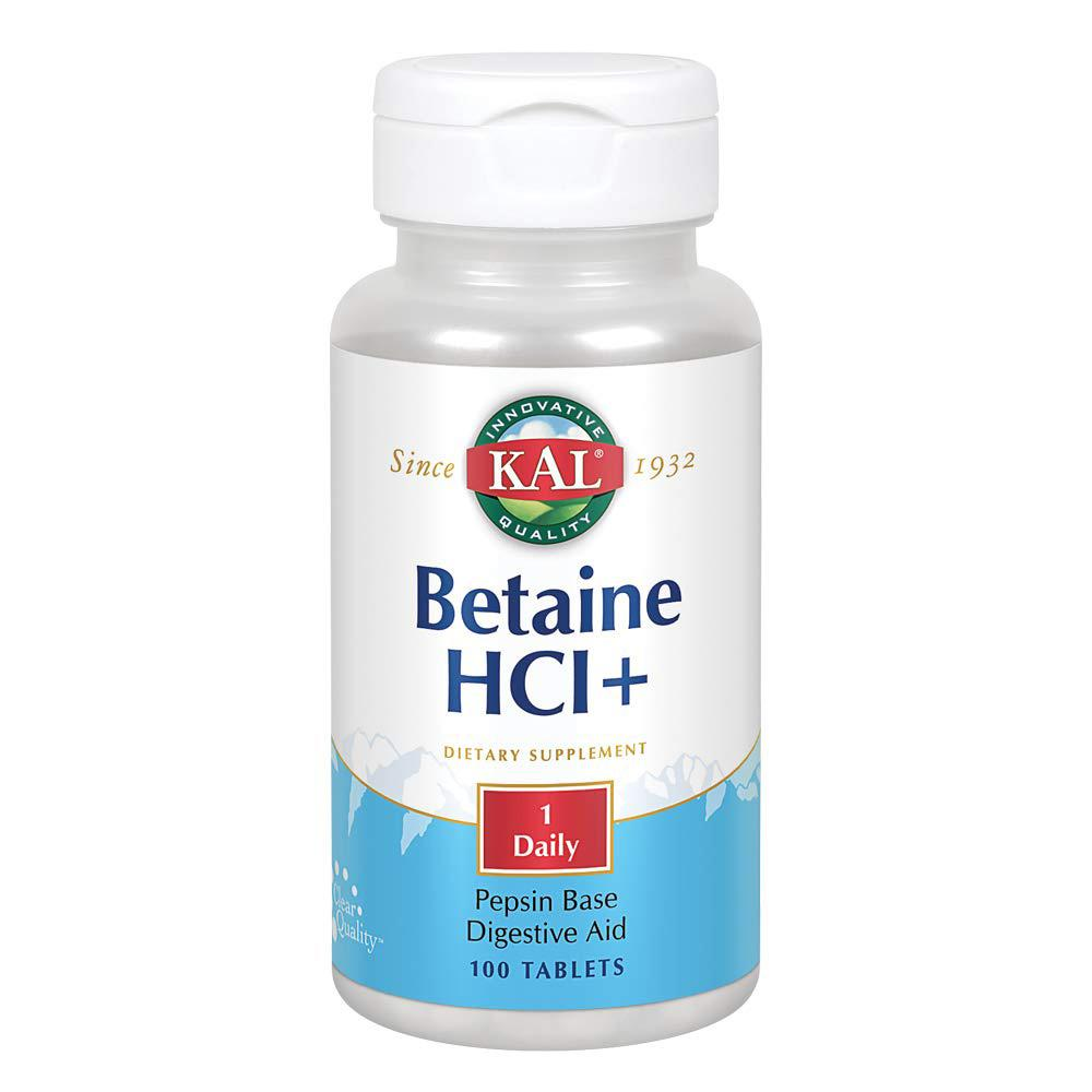 Kal Betaine HCL+ 250mg 100 Tablets | Digestive Aid Digestive Health Kal  (1778926026795)