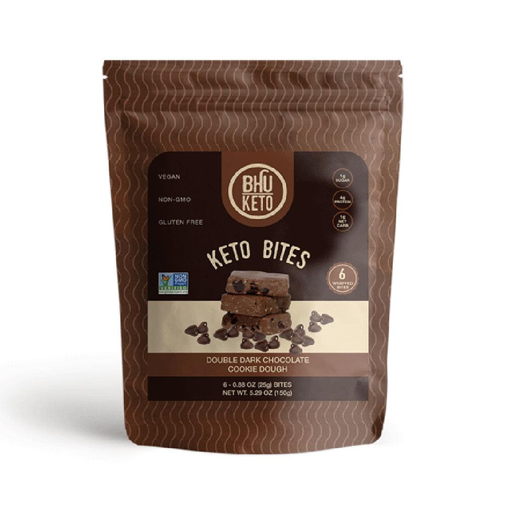 Bhu Keto Bites 6/ea Fat Burner Bhu Double Dark Chocolate Cookie Dough  (4592174399553)