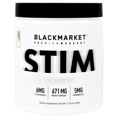 Black Market Labs Stim 30 Servings Pre-Workouts Black Market Labs Tropical Punch  (4345879003201)