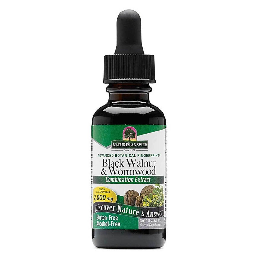 Nature's Answer Liquid Black Walnut and Wormwood 1 fl oz Herbs Nature's Answer  (1057985986603)