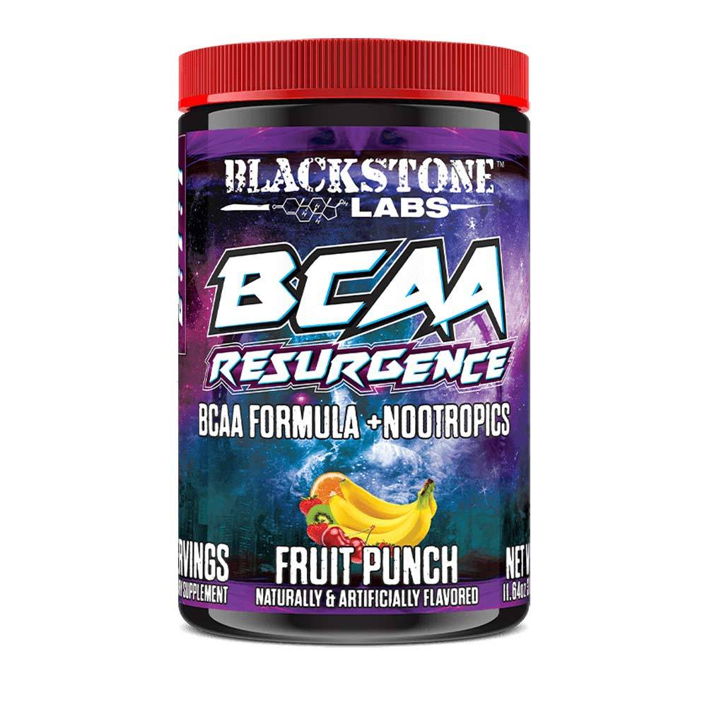 Blackstone Labs Resurgence BCAA Formula + Nootropics 30 Servings Amino Acids Blackstone Labs Fruit Punch  (1059092332587)