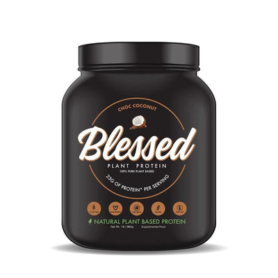 Blessed Plant Protein 1lb Protein Powders Blessed Choc Coconut  (4308058046529)