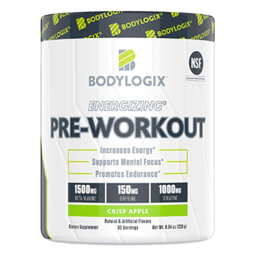 BodyLogix Energizing Pre-Workout 30 Servings Sports Performance Recovery Bodylogix Crisp Apple  (1735284359211)
