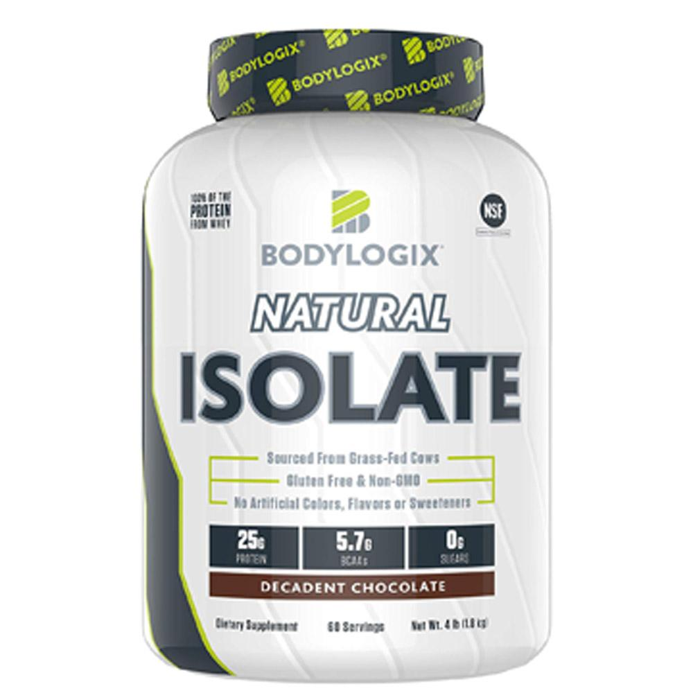 BodyLogix Natural Isolate Protein 4lb Protein Powders Bodylogix Decadent Chocolate  (1735273938987)