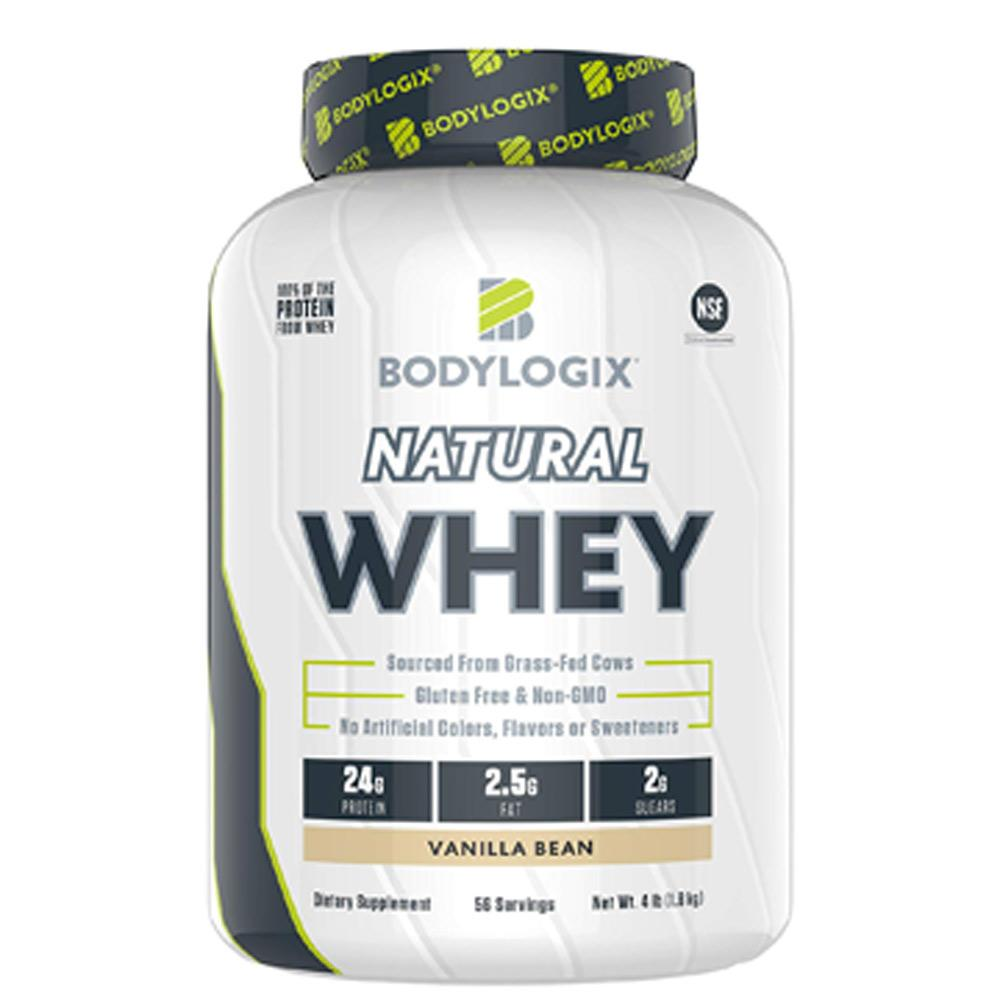 BodyLogix Natural Whey Protein 4lb Protein Powders Bodylogix Vanilla Bean  (1735270662187)