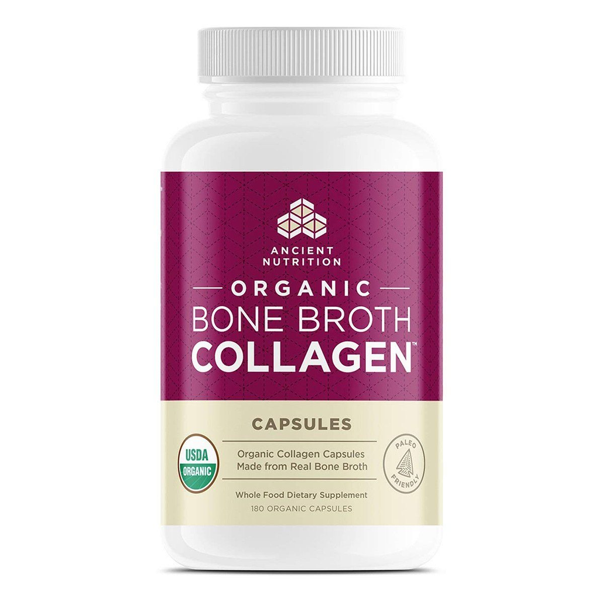 Ancient Nutrition Organic Bone Broth Collagen 180C Specialty Health Products Ancient Nutrition  (1399412523051)