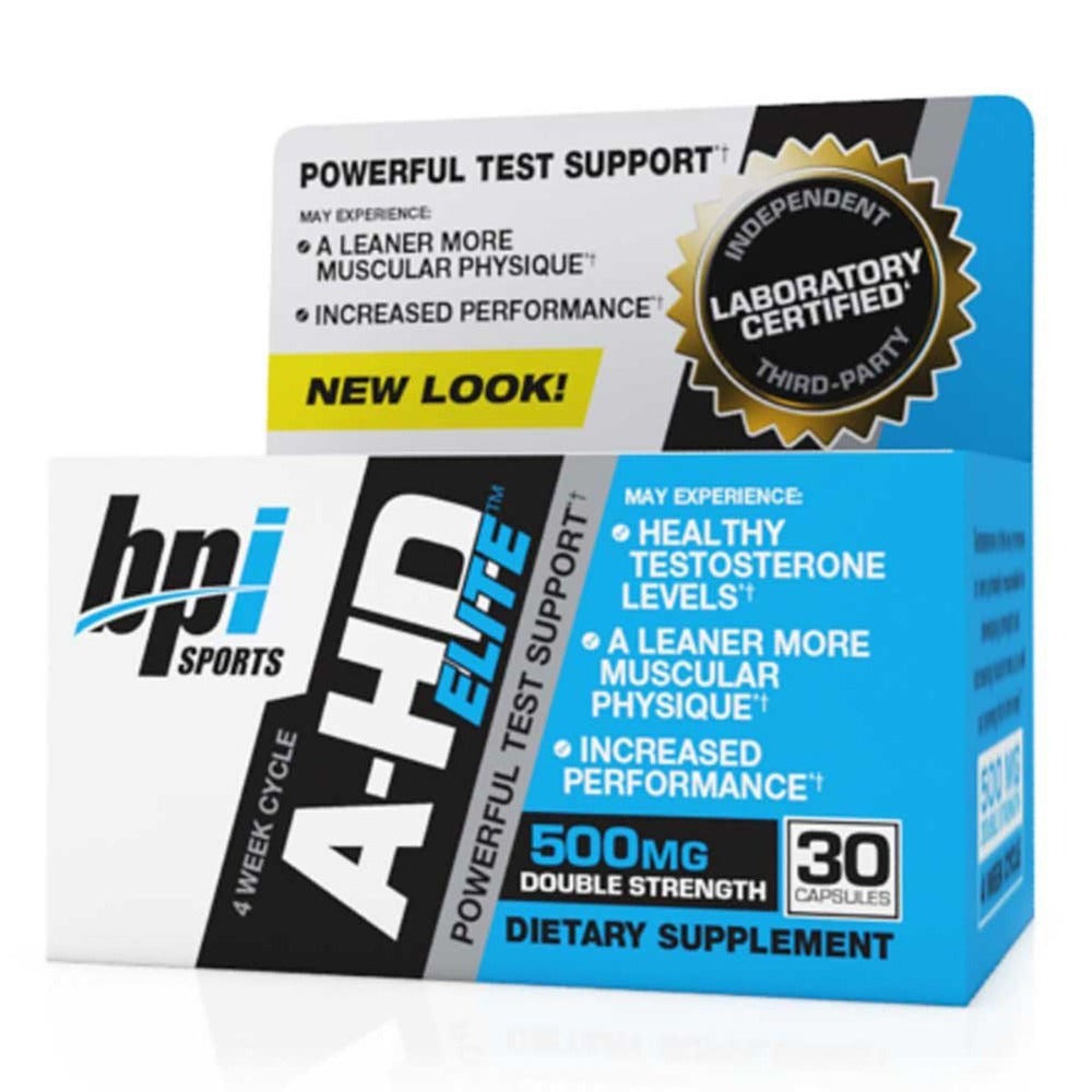 Bpi A-HD Elite 500mg 30 Caps Testosterone Boosters Bpi  (1059046424619)