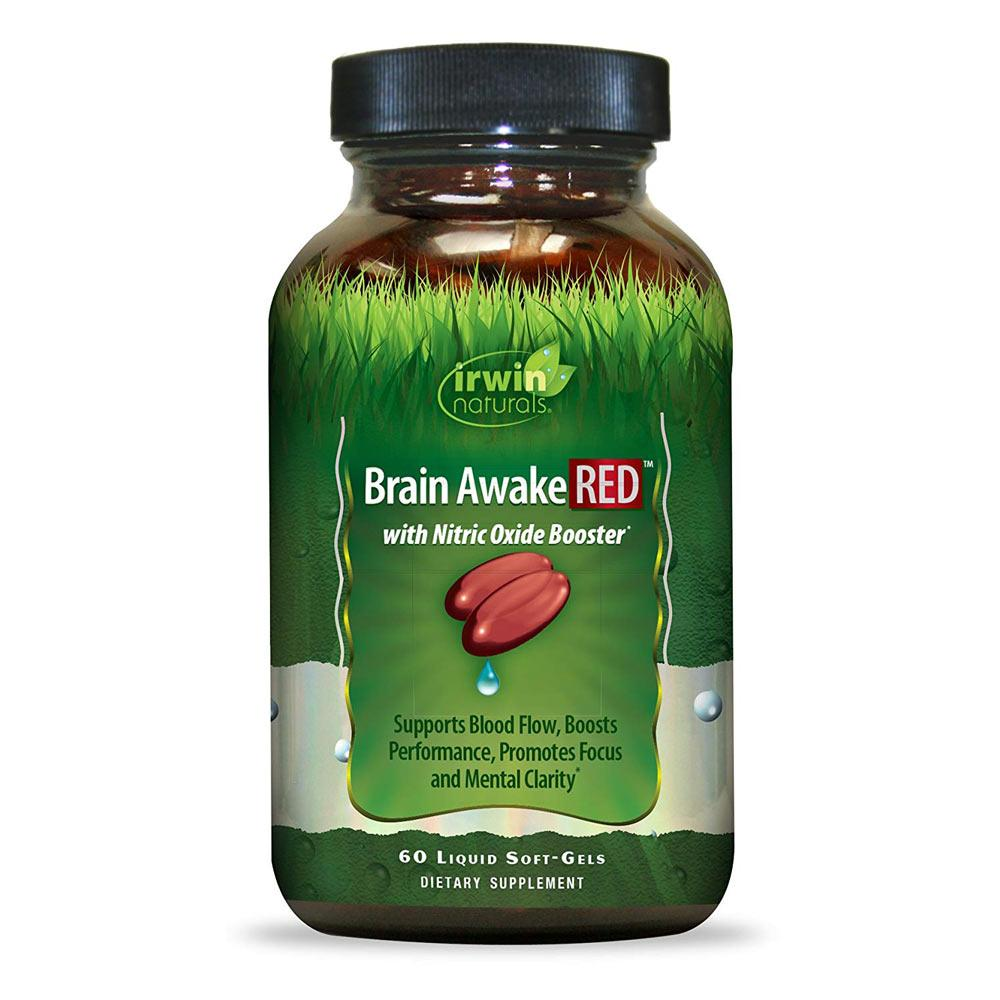 Irwin Naturals Brain Awake RED 60 Softgels | Promotes Focus & Clarity Specialty Health Products Irwin Naturals  (1795790798891)