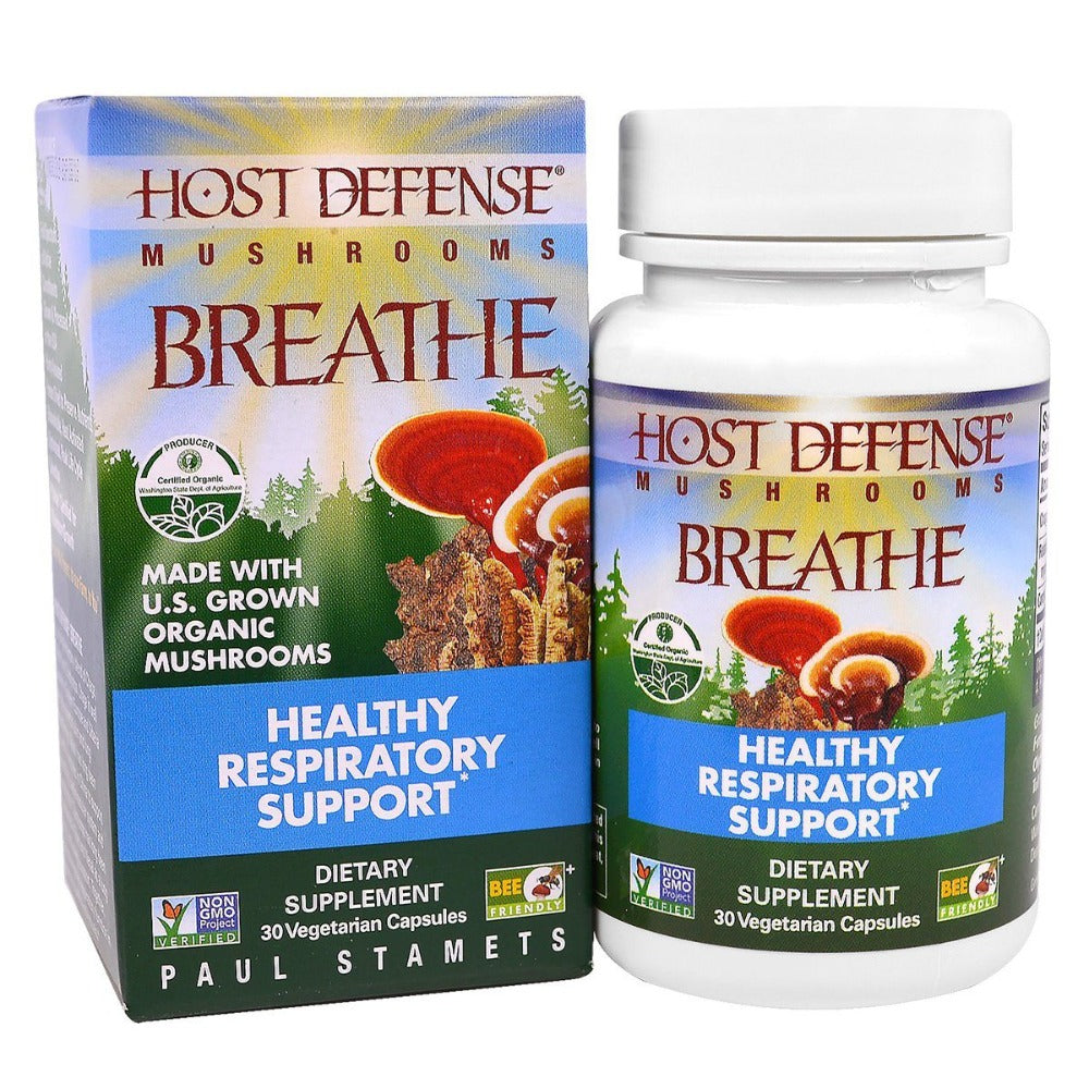 Fungi Perfect Host Defense Breathe 30 Vege Caps Herbs Fungi Perfect  (1059230646315)
