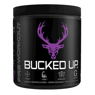 Bucked Up Bucked Up 30 Servings | Pre-Workout Sports Performance Recovery Bucked Up Grape  (1825115799595)