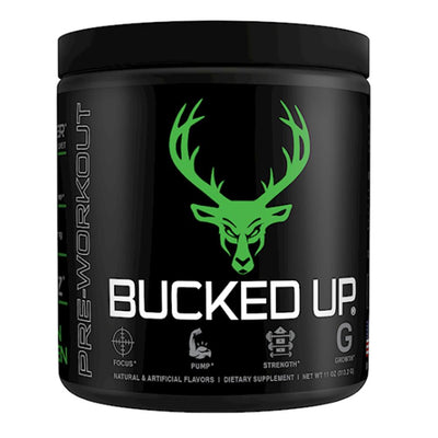 Bucked Up Bucked Up 30 Servings Sports Performance Recovery Bucked Up Mean Green  (1825115799595)