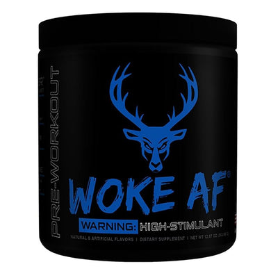 Bucked Up Woke AF 30 Servings | High Stimulant Pre-Workout Sports Performance Recovery Bucked Up Blue Raz  (1825141882923)