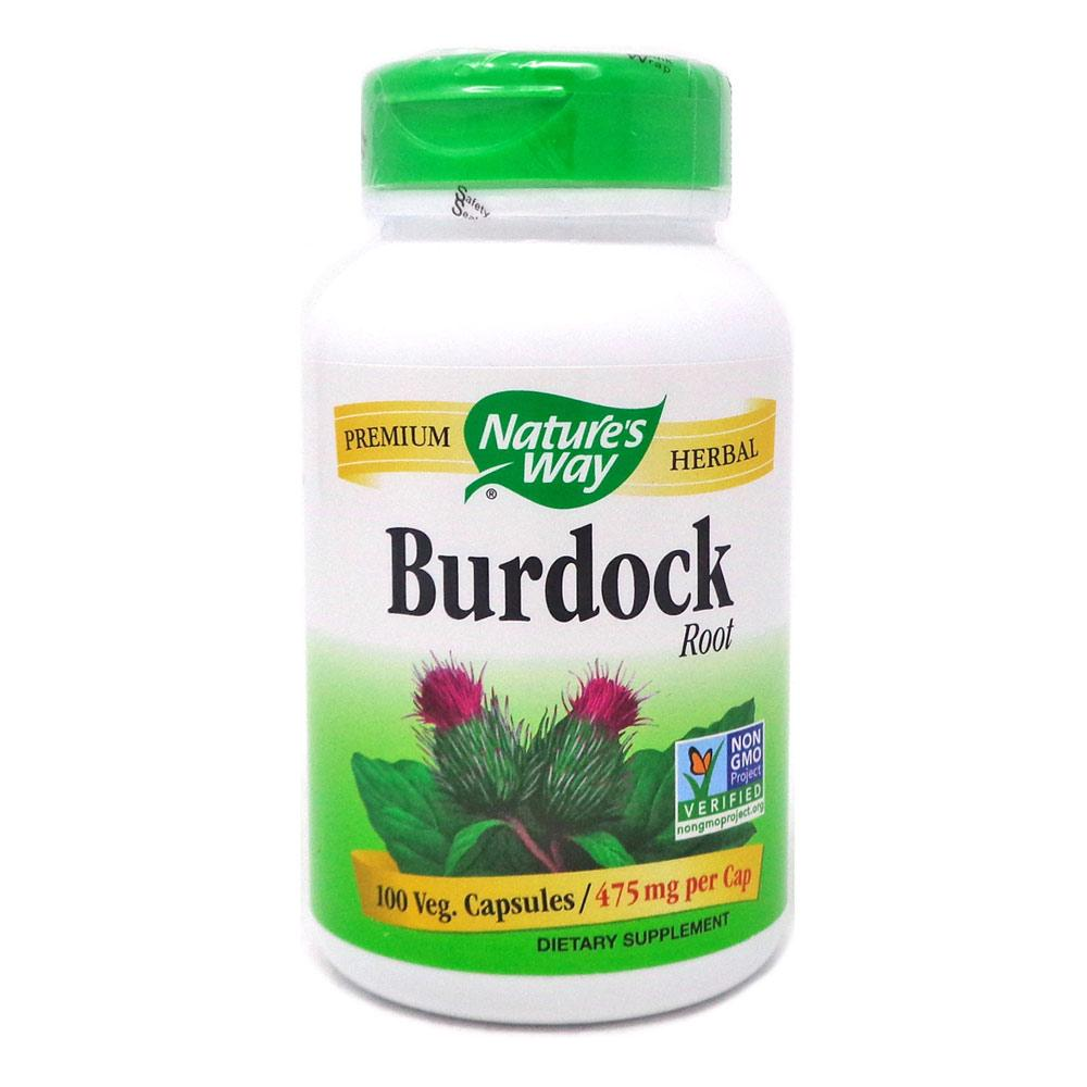 Nature's Way Burdock Root 540mg 100 Capsules | Promotes Clear Healthy Skin Herbs Nature's Way  (1796798447659)