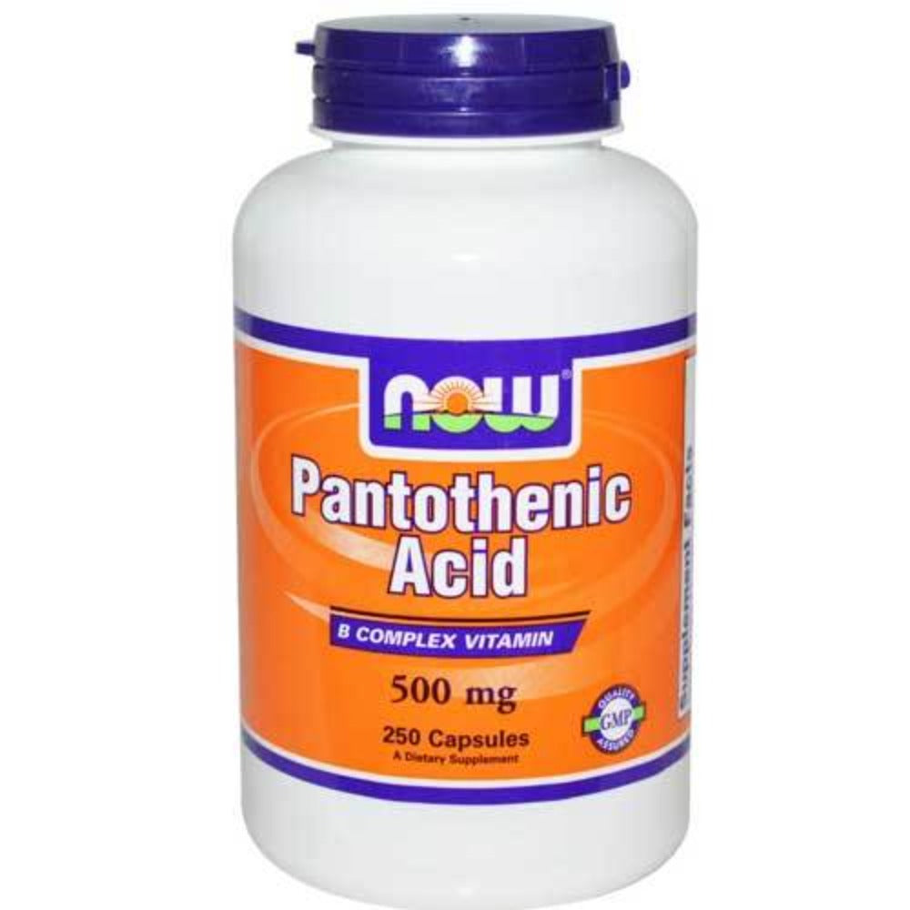 Now Foods Pantothenic Acid 500 Mg 250 Capsules Vitamins Now Foods  (1059103899691)