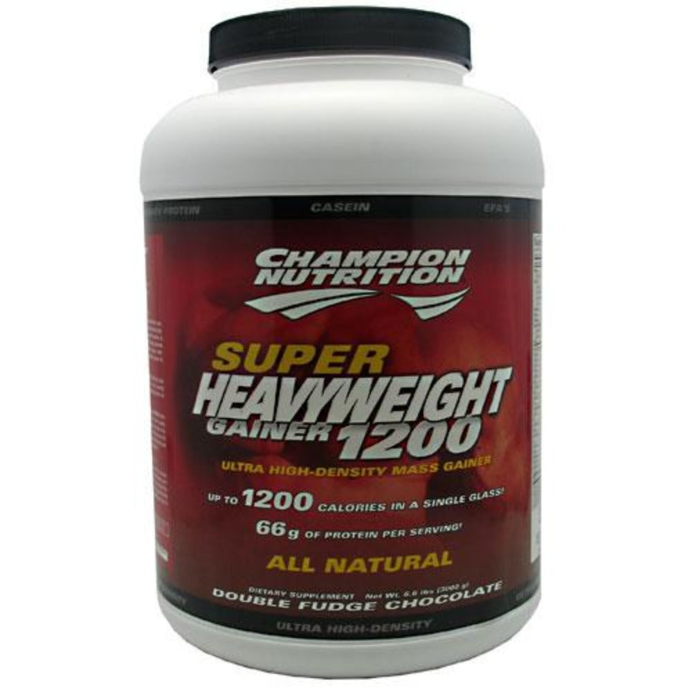 Champion Nutrition Super Heavy Gainer 1200 6.6 lb Champion Nutrition Double Fudge Chocolate  (1059002515499)