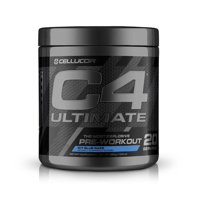 Cellucor C4 Ultimate 30 Servings | Intense Hard Hitting Pre-Workout Pre-Workouts Cellucor Icy Blue Razz  (1805878951979)