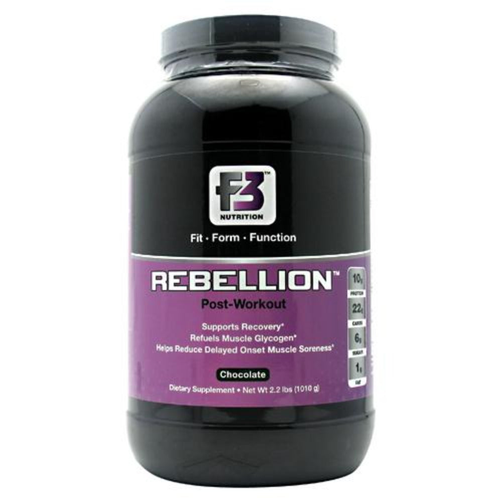 F3 Nutrition Rebellion 2 lbs (925g) Sport Performance / Recovery F3 Nutrition Chocolate  (1058872885291)